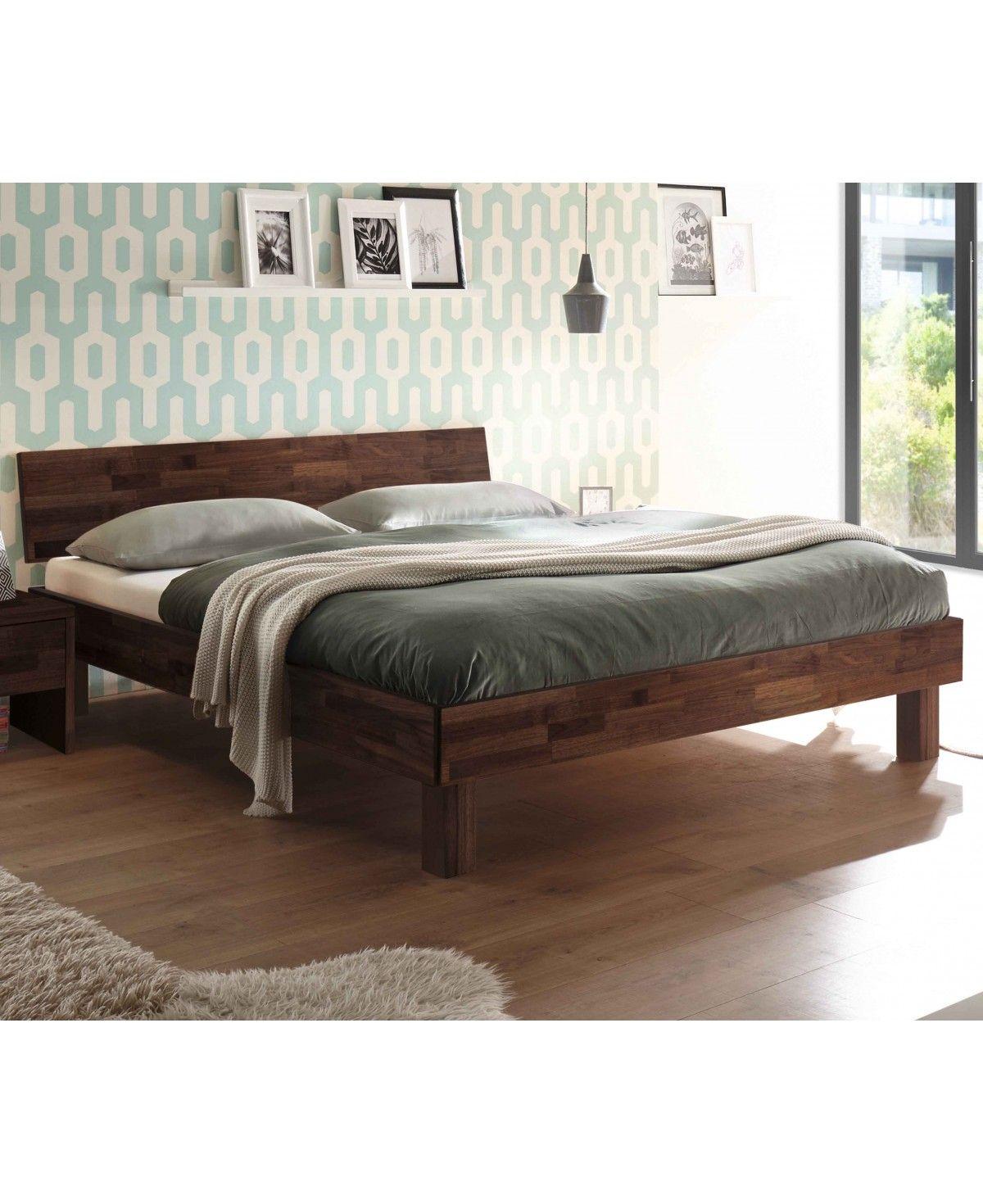 HASENA Fine Line Moderno Bett Forti 25 Nussbaum mit Kopfteil 100x200