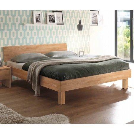 HASENA Fine Line Moderno Bett Forti 20 Eiche bianco Kopfteil 180x200