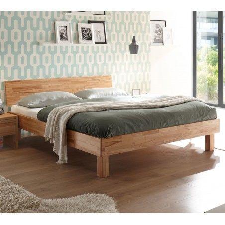 HASENA Fine Line Moderno Bett Forti 25 Kernbuche mit Kopfteil 200x200