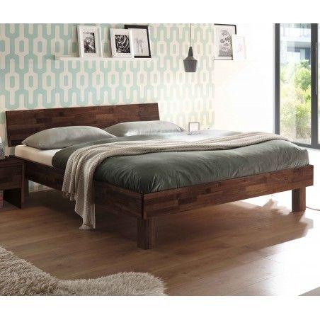 HASENA Fine Line Moderno Bett Forti 25 Nussbaum mit Kopfteil 200x200