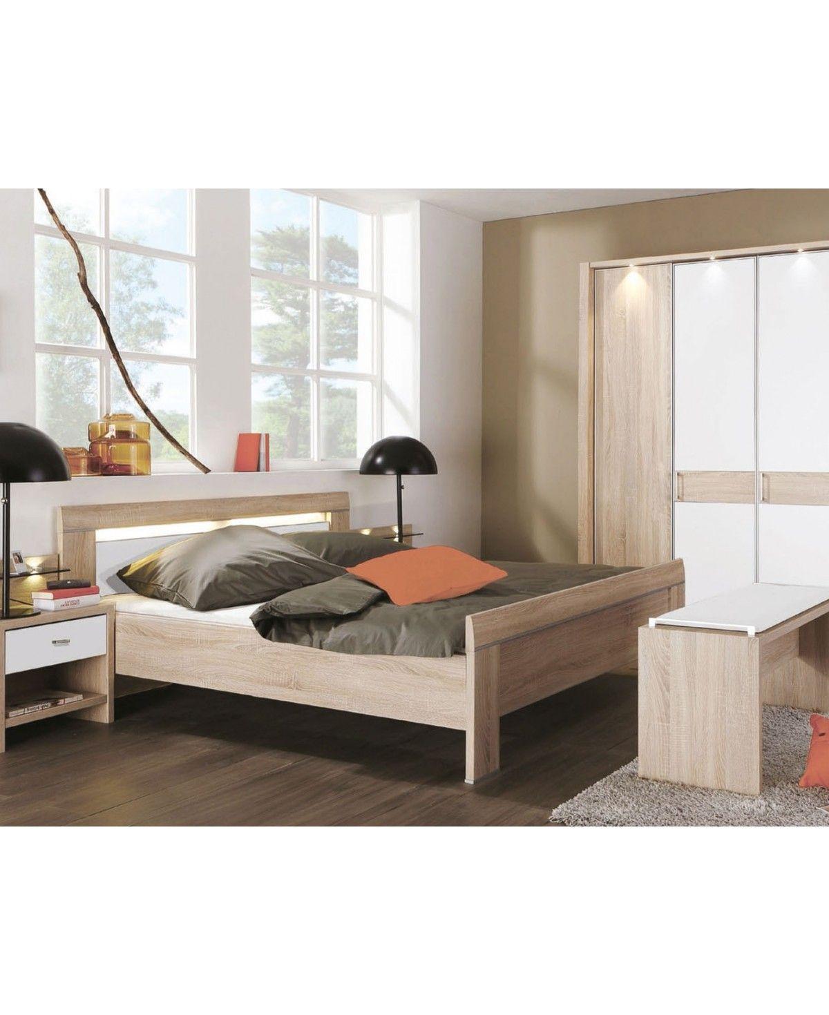 WIEMANN Schlafzimmer Donna Eiche sägerauh Nachbildung 180x200