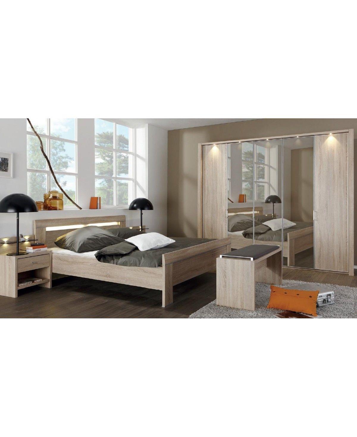 WIEMANN Schlafzimmer Donna Eiche Nachbildung Spiegelschrank 19x19