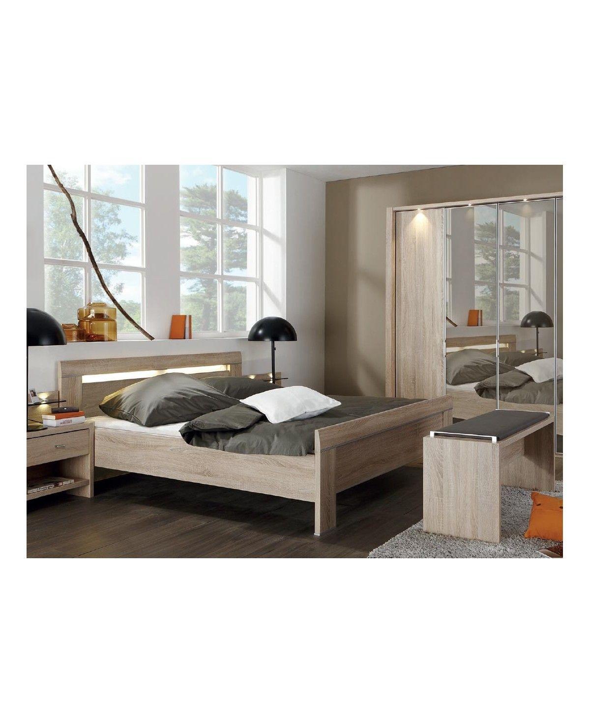 WIEMANN Schlafzimmer Donna Eiche Nachbildung Spiegelschrank 180x200