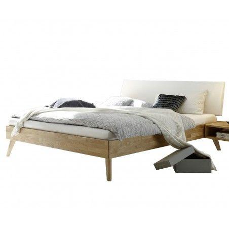 HASENA Trento Eiche Bett Pesaro Kopfteil Lecco weiß 200x200