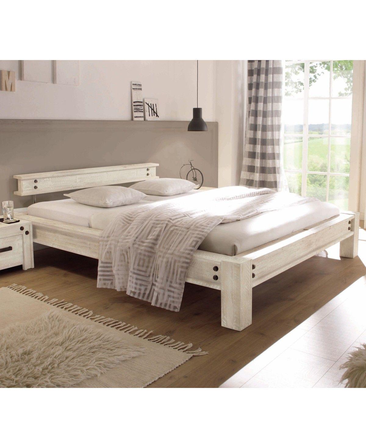 Hasena Factory Line Loft Stil Bett San Luca Akazie Vintage White 140x200