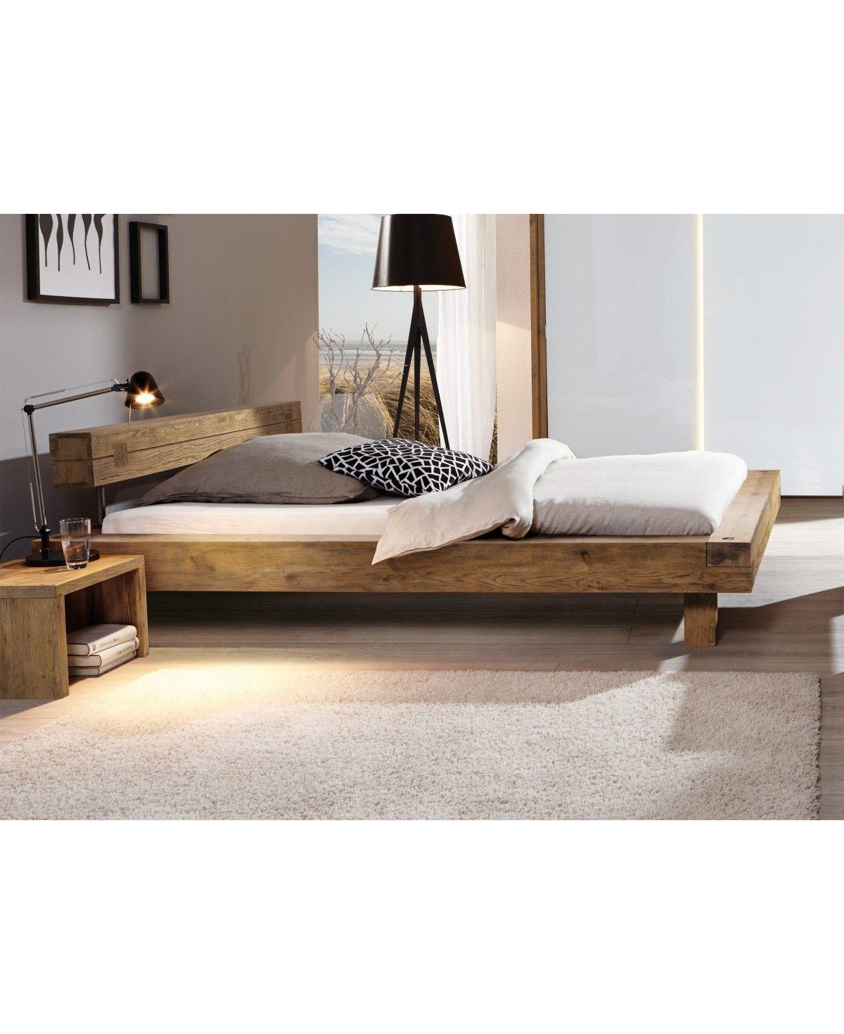 Hasena Oak Vintage Balkenbett Inca Fusse Ivio Wildeiche 160x200