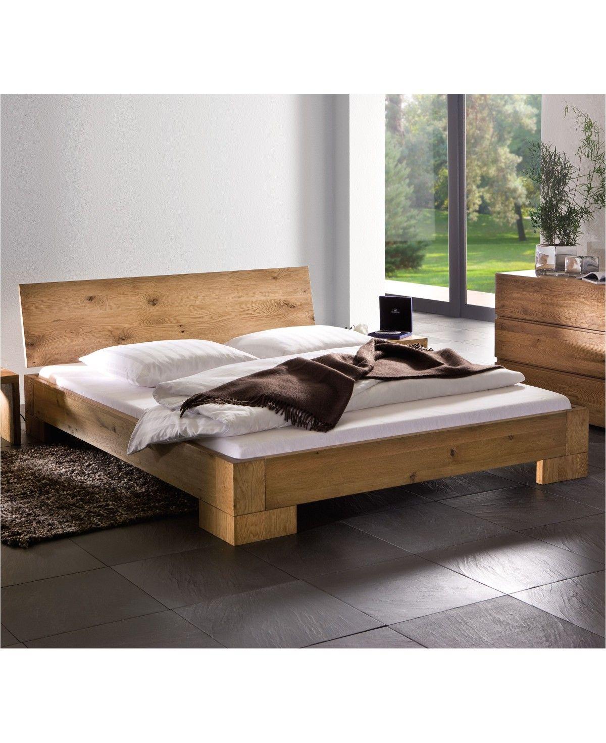 Hasena Oak Line Bett Varus Füße Vaco Massiv Eiche Natur 180x200