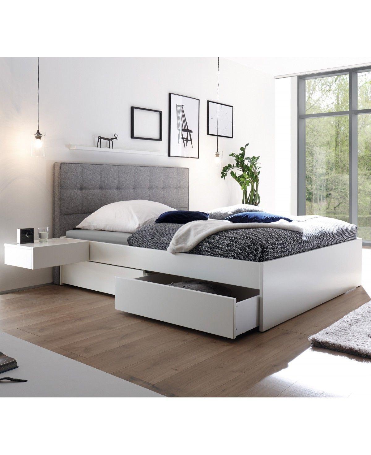 Bett 200x200 Weiss Landhaus