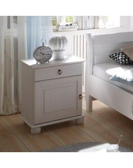 Landhausstil Schlafzimmer Kiefer weiß gewachst 180x200