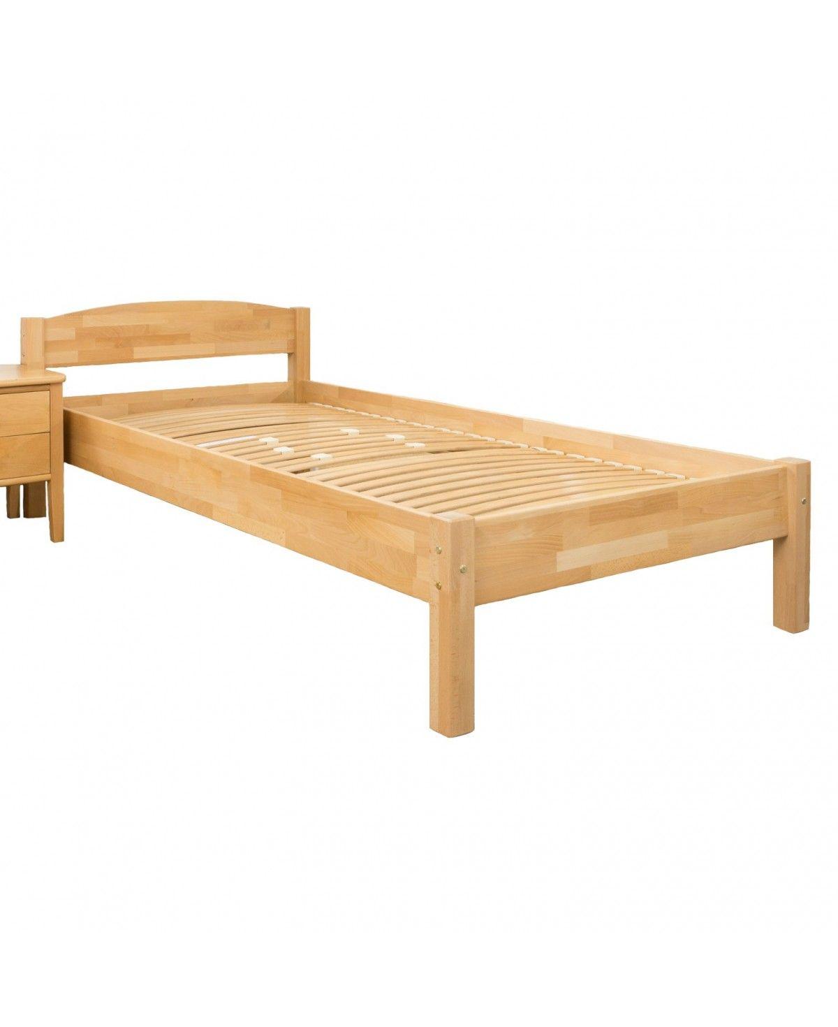 Massivholz Betten 140x200: Bettgestell Buche Massivholz Mit Kopfteil 140x200