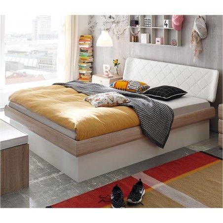 HASENA Soft Line Stauraumbett Practico Box Eiche sägerauh Dekor 140x200