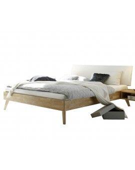 Hasena Fine Line Moderno Eiche Bett Pesaro Kopfteil Lecco Weiss 90x200