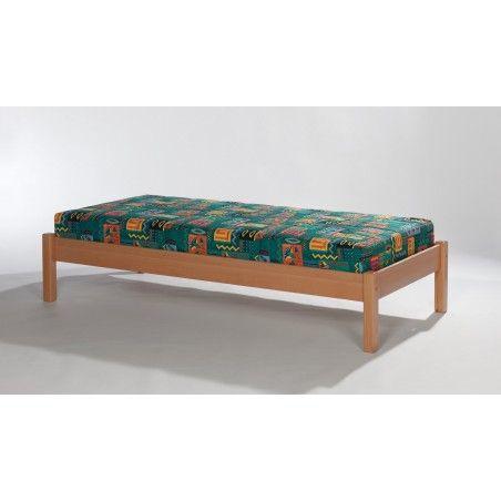 Massivholz Bett Buche natur lackiert 140x200