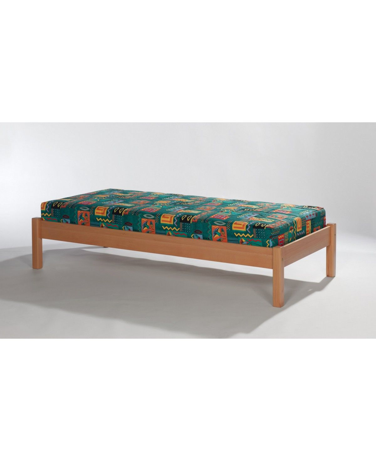 Massivholz bett buche natur lackiert 100x200 for Bett 100x200 massivholz