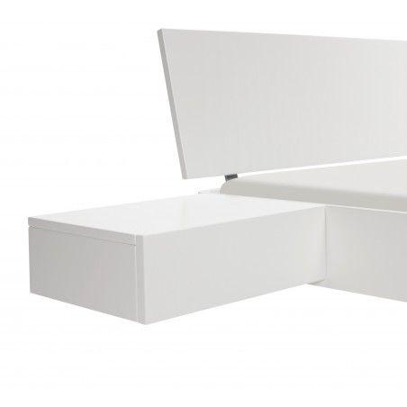 HASENA Fine Line Nachttisch Caja Buche weiß deckend