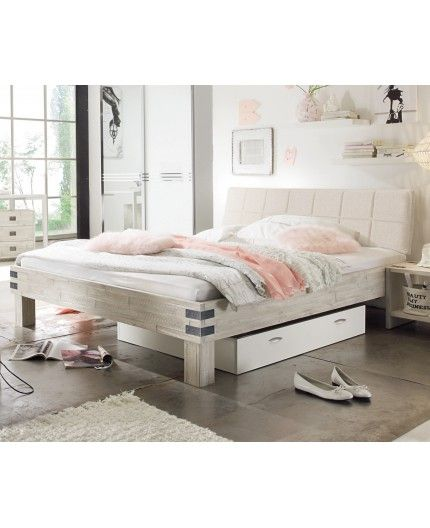hasena factory line bett loft 18 f e ivio kopfteil stoffbezug malta vintage white 200x200. Black Bedroom Furniture Sets. Home Design Ideas