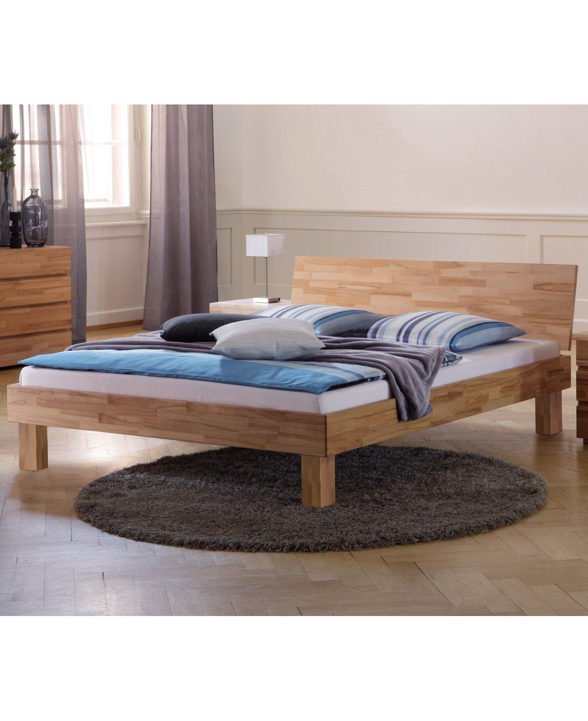 Hasena Wood Line Bett Kernbuche Kopfteil Varus Füße Cantu 20 200x220