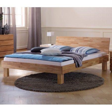 HASENA Wood Line Bett Kernbuche Kopfteil Varus Füße Cantu 20 140x200
