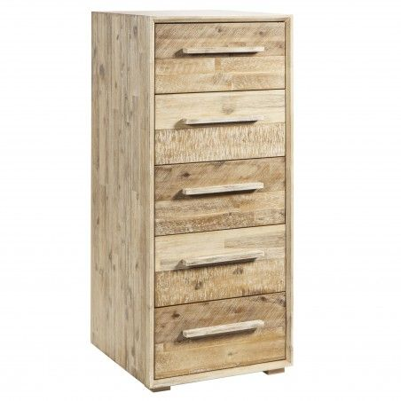 HASENA Factory Chic Tower Kommode Highboard Akazie natur & multicolor
