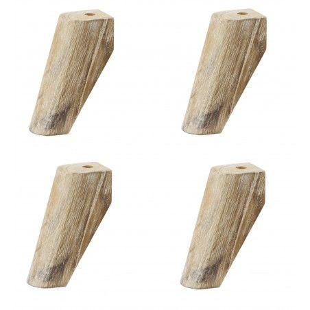 HASENA Füße Sima 10 cm Akazie natur 4er Set