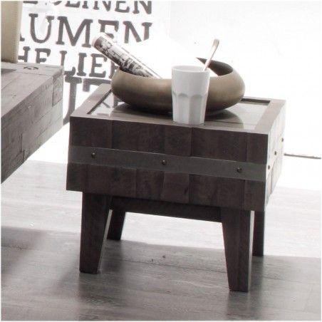 HASENA Factory Line Nachttisch Butch Akazie vintage grey