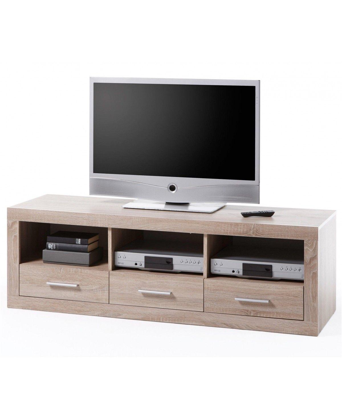 Vaja Kommode Sideboard Tv Board 3 Schubladen Eiche Sonoma Dekor