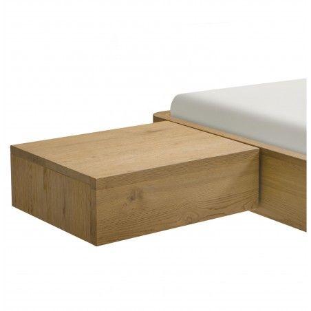 HASENA Oak Bianco Caja Eiche Nachttisch schwebend