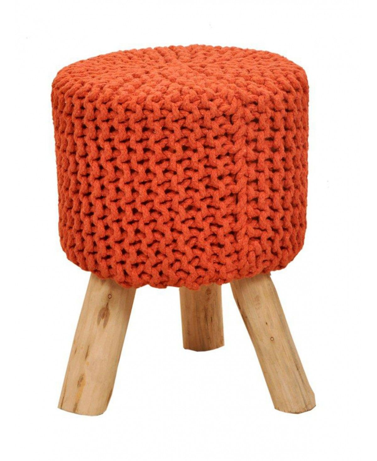 Sitzhocker Pouf Schemel Strickhocker 45 Cm Terracotta