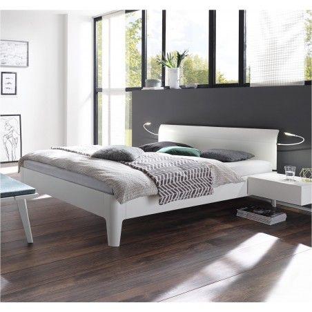 HASENA Komfortbett Xyvola 30 extra hoch Buche weiß deckend 180x200
