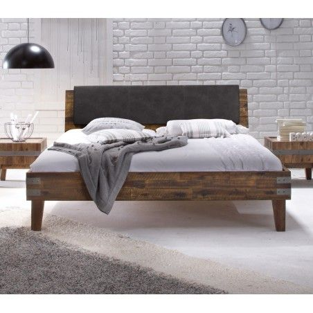 HASENA Factory Line Bett Loft 18 Polster Ravo vintage brown 160x200