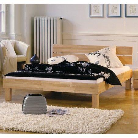 HASENA Wood Line Bett Buche natur Kopfteil Duo Füße Cantu 20 120x200