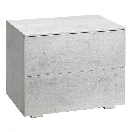 HASENA Nachttisch Mino 2 Schubladen Beton Dekor