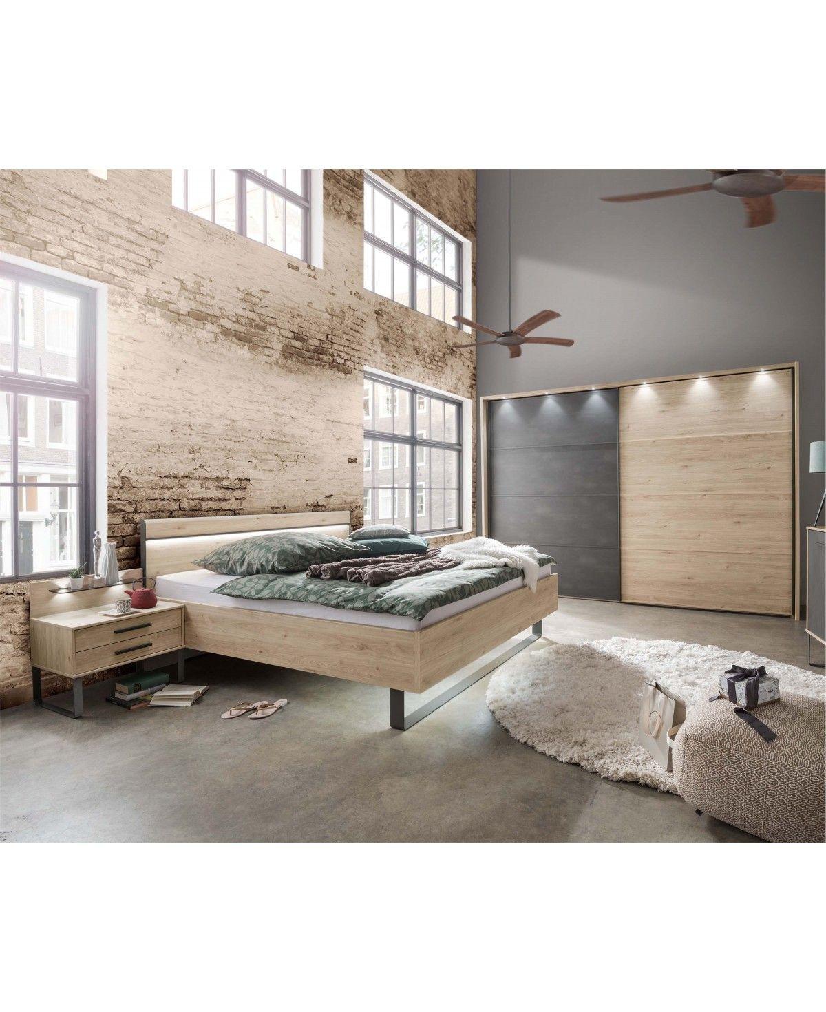 WIEMANN Schlafzimmer Brüssel Schrank Bett Nachttisch 10x10