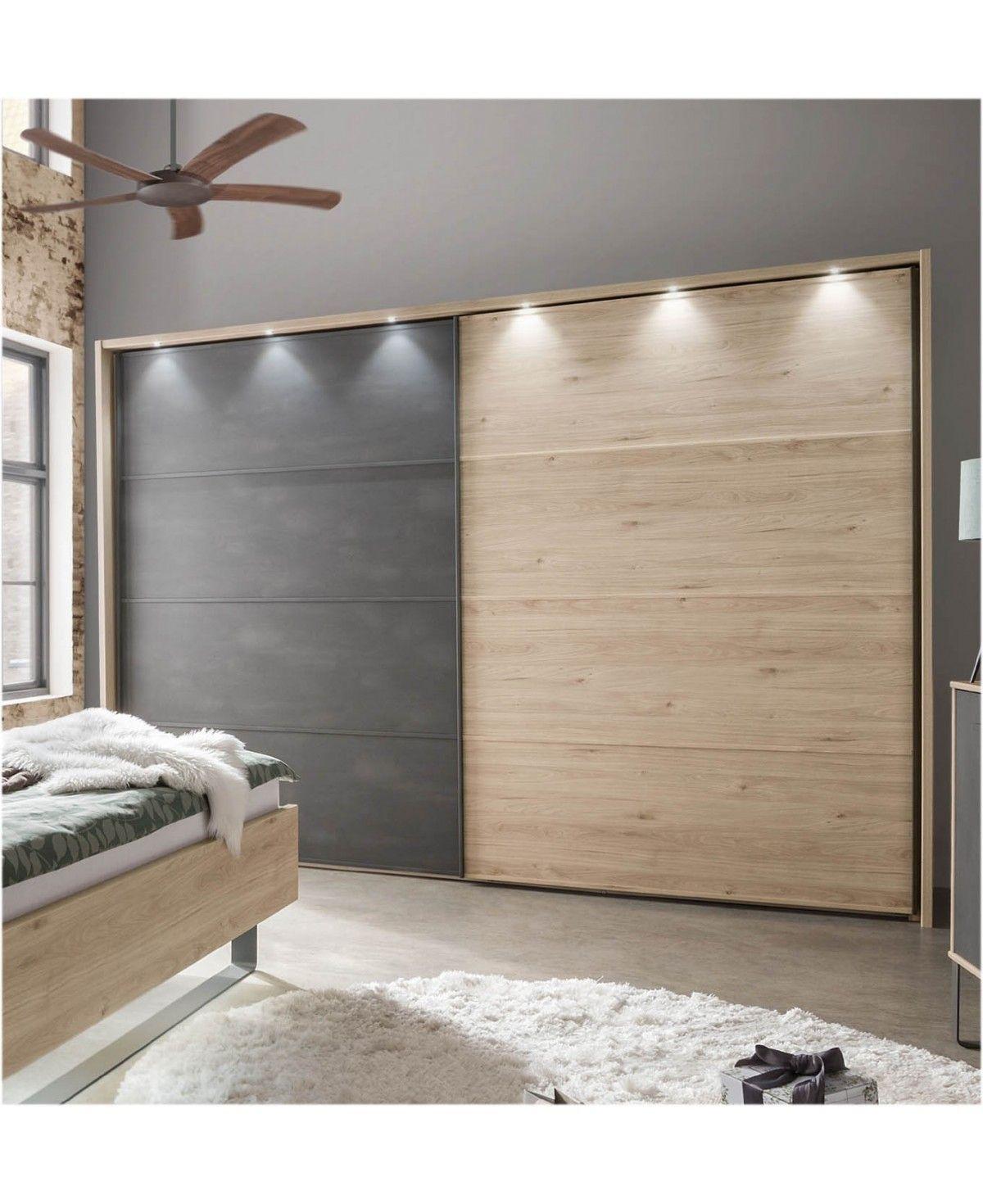 WIEMANN Schlafzimmer Brüssel Schrank Bett Nachttisch 180x200