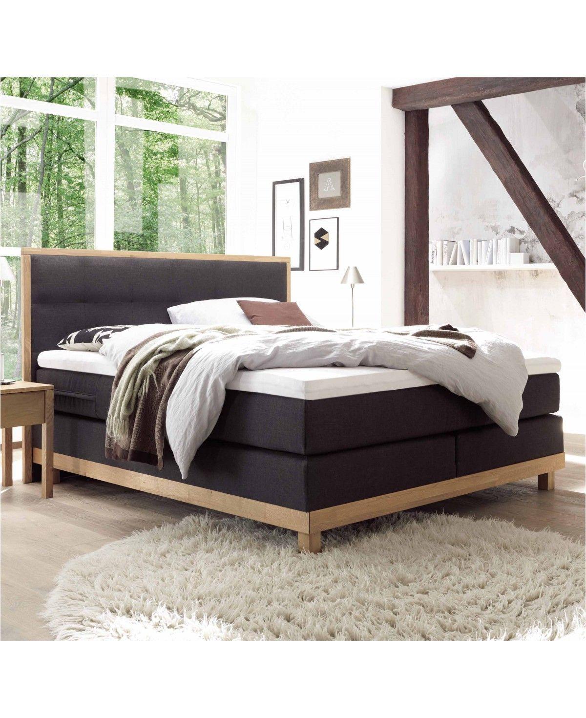 Liegekomfort: Soft Hasena Boxspringbett Bella Eiche Bianco|Kunstleder braun 160x200 Topper Superio