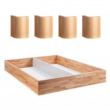 HASENA Fine Line Practico-Ron Box Bettkasten Kernbuche