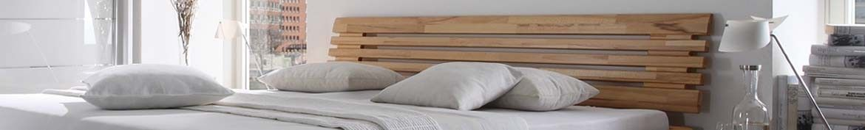 Hasena Wood Line Kopfteile aus Holz und Polsterkopfteile